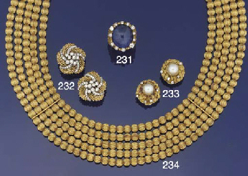 An 18ct. gold necklace by Lala