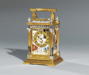 A French parcel-silvered gilt-
