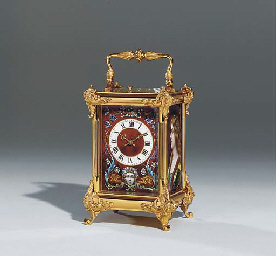 A FRENCH GILT-BRASS AND LIMOGE
