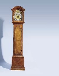 A George II walnut longcase cl