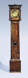 A Charles II walnut longcase c