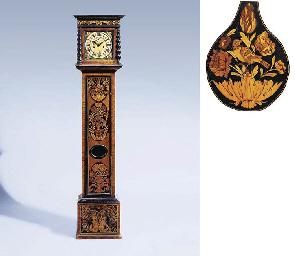 A James II walnut and floral m