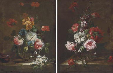 Poppies, roses and other flowe