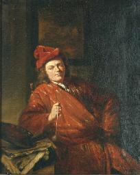 Portrait of an artist smoking