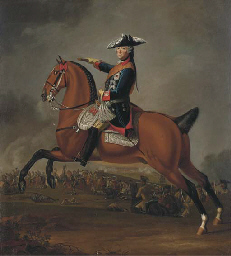 An equestrian portrait of Fred