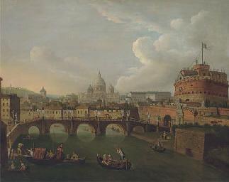 The Tiber, Rome, looking towar
