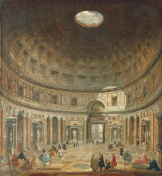 The interior of the Pantheon,
