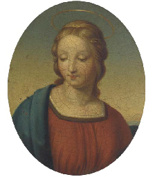 A detail of the Madonna of the