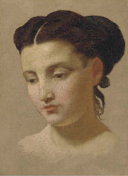 Study of a young lady, bust-le