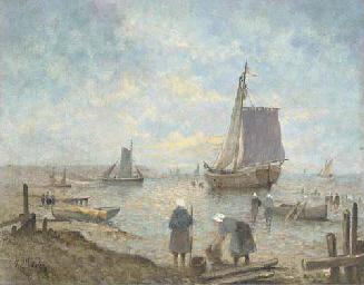 Fisherwomen on the shore