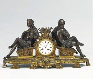 A Napoleon III bronze and ormo