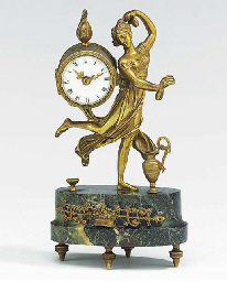 A French bronze and marmo verd