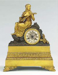 A Louis Philippe ormolu and pa