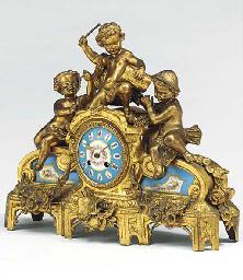 A Napoleon III gilt-metal and
