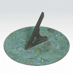 A Victorian bronze sundial, mi