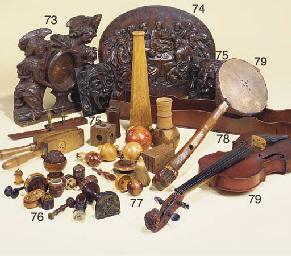 An oak cased kaleidoscope