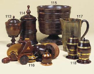 A Victorian horn jug