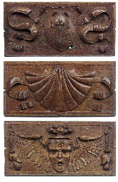 A set of three French carved o