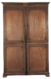 A REGENCY MAHOGANY LINEN-PRESS