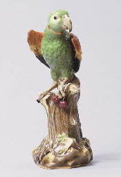 A MEISSEN MODEL OF A MACAW