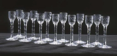 THIRTEEN CORDIAL-GLASSES