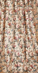 PAIR OF GLAZED CHINTZ CURTAINS