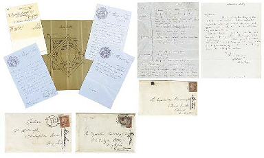 PUGIN, Augustus Welby (1812-1852). A series of seven autograph letters...