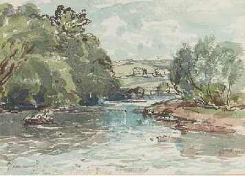 River landscape; and A winding