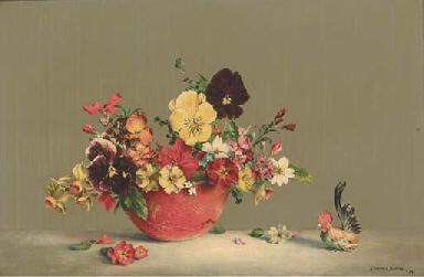 Pansies, primulas, wallflowers