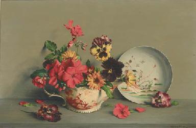 Pansies, geraniums, marigolds