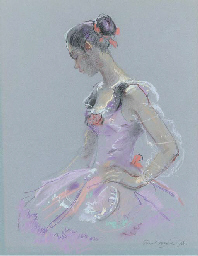Carina in ballet costume; and