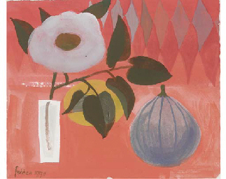 Still life with fig and flower