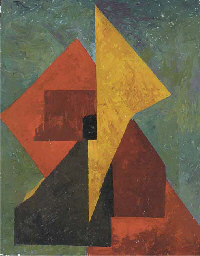 Abstract, red, yellow and gree