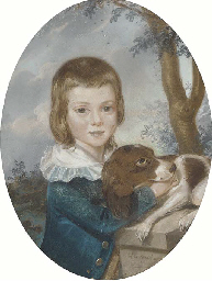 Portrait of a boy, small half-