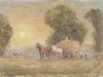 The hay wagon returning home a