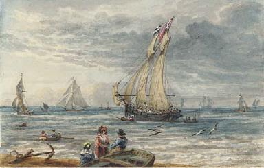 The schooner Waterwitch off Ha