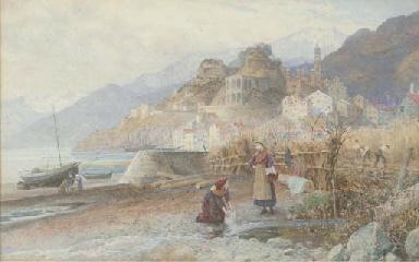 Washerwomen on the Italian coa
