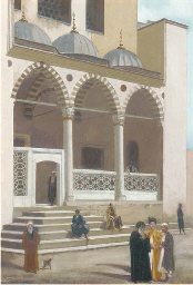 Arabs outside the Suleyman Mos