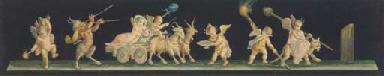 Pompeiian frescoes:  Putti dri