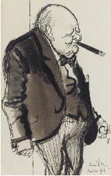 Winston Churchill on the way o