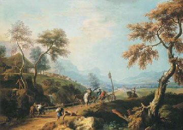 A wooded landscape, with gentl