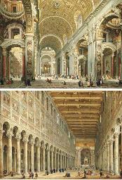 Interior of Saint Peter's, Rom