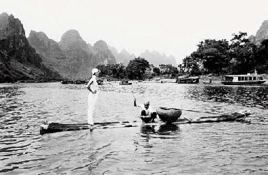 Linda in Quelin China, 1993