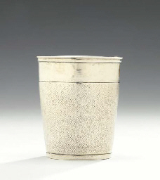 A GERMAN SILVER BEAKER,