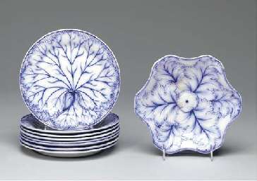A WEDGWOOD PEARLWARE PART DESS