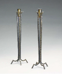 A PAIR OF ART DECO STYLE HAMME