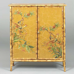 A BAMBOO LACQUERED AND CHINOIS
