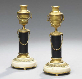 PAIR OF LOUIS XVI STYLE GILT-B