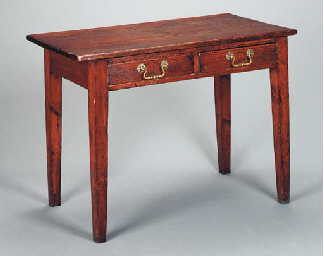 VICTORIAN PINE WRITING TABLE,