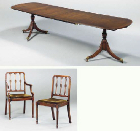 A SET OF TEN GEORGE III STYLE